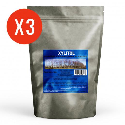 Xylitol en poudre - 1kg x 3