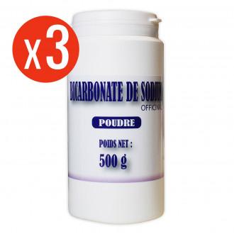 Bicarbonate de Sodium - poudre 3 x 500g