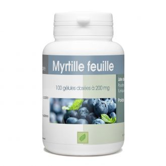 Myrtille Feuille - 200 mg - 100 gélules