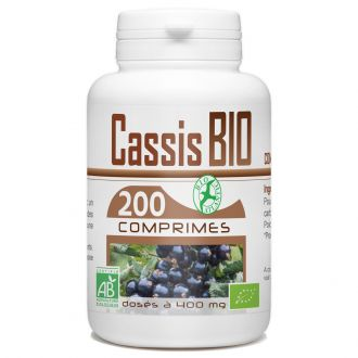 Cassis Biologique - 400 mg - 200 Comprimés