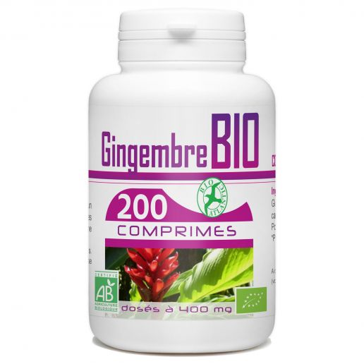 Gingembre Bio - 400 mg - 200 comprimés