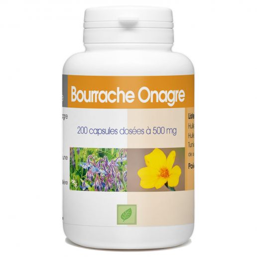 Bourrache Onagre - 500 mg - 200 capsules
