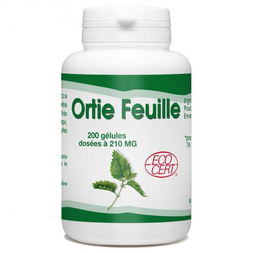 Ortie Bio (Feuille) - 200 gélules - 210mg