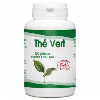 Thé Vert Bio - 250mg - 200 gélules