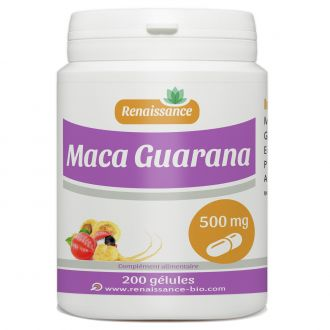 Maca Guarana - 500 mg - 200 gélules