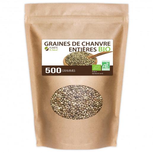 Graines de Chanvre Entières Bio - 500g