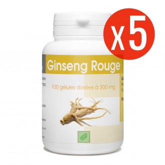 Ginseng Rouge - 300 mg - 100 gélules X 5