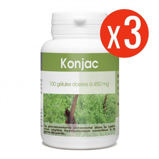 Konjac 3x100 gélules 450 mg