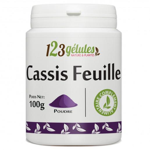 Cassis feuille - 100 gr de poudre