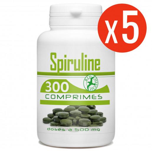 5 X 300 comprimés de Spiruline dosés à 500 mg