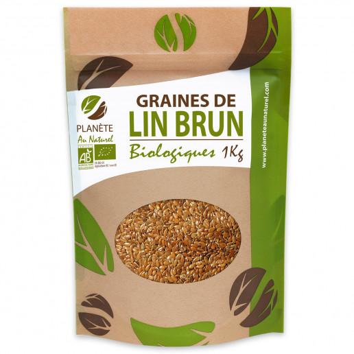 Graines de Lin Brun Bio 1kg