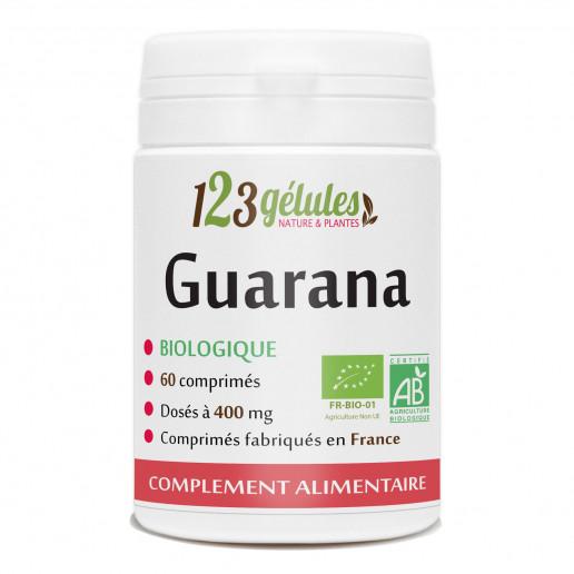 60 comprimes de Guarana bio dosés à 400mg