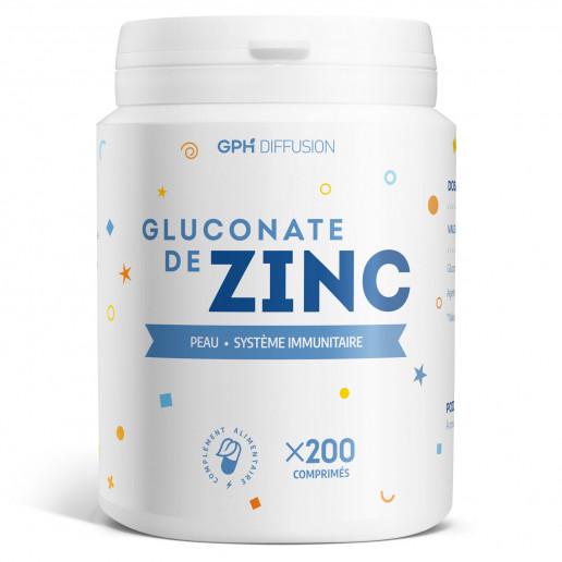 Gluconate de zinc - 15 mg - 200 comprimés