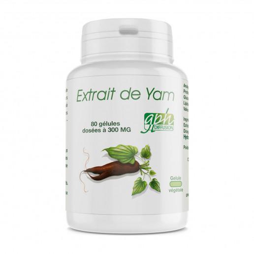 Extrait de Yam - 300mg - 80 gélules végétales