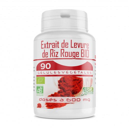 Levure de Riz Rouge 1,6% - 90 gélules bio 600mg