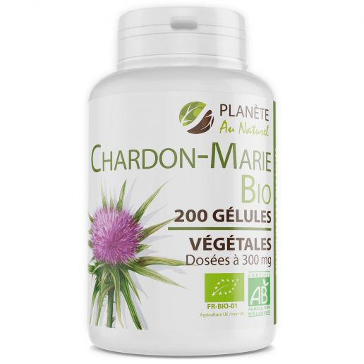 Chardon Marie Bio - 200 Gélules Végétales