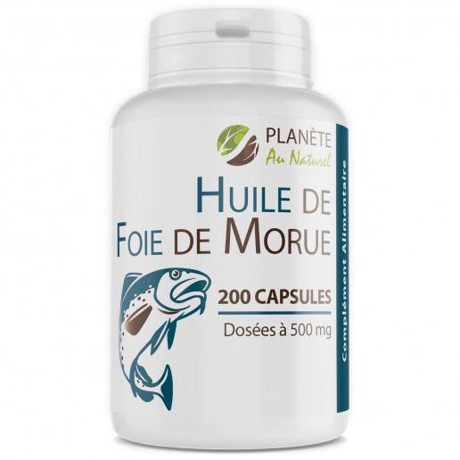 Huile de Foie de Morue - 500 mg - 200 capsules