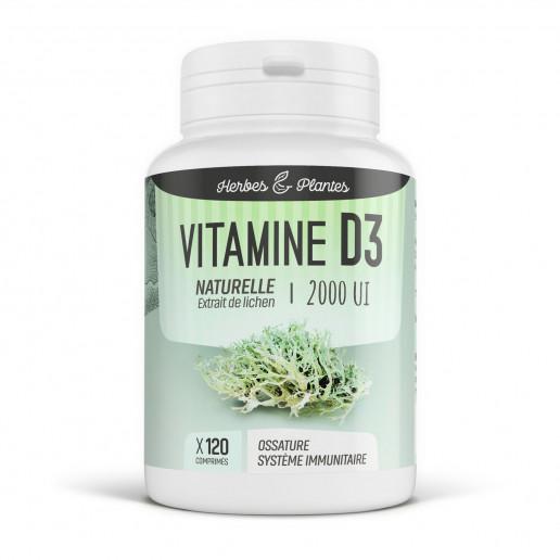 Vitamine D3 Naturelle - 2000 UI - 120 Comprimés