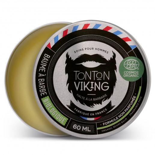 Baume à Barbe Biologique 60 ml - Cosmos Organic - Tonton Viking - Non parfumé